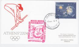 Mexico Olympic Flight Card 2004 Athen Olympic Games - National Team Flying W/aeromexico, Olympic Airways - Estate 2004: Atene