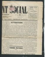 Type Blanc - MAURY  N° 108 II Oblitéré Sur Journal Entier , Le Relèvement Social De Juillet 1927 - Raa39 - 1900-29 Blanc