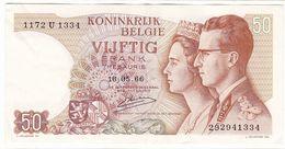 Belgium P 139 - 50 Francs 1966 - Fine+ - [ 6] Tesoreria