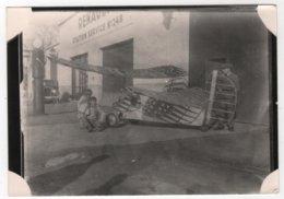 Photo Originale Avion Pou Du Ciel Station Service N° 248 De Renault Auto Pompe Essence - Aviation