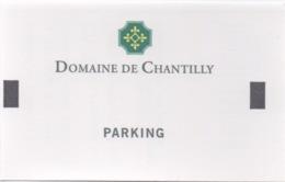Ticket De Parking : Domaine De Chantilly - Alte Papiere