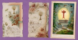 Image Pieuse Communion Eglise Notre Dame De Louviers  4 Juin 1896  Et Renouvellement 17 Juin 1897- Le Lot De 3 - - Religión & Esoterismo