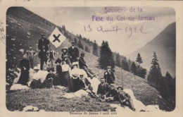 Réunion De Jaman 7 Août 1910, Souvenir De La Fête De Jaman. Ecrite. Croix Bleue ? - VD Vaud