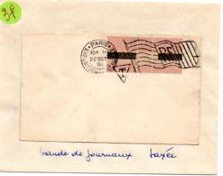 PARIS  EXPOSITION UNIVERSELLE 1900 =  FLAMME BICKERDIKE DRAPEAU + TAXE Sur BANDE à VOIR - Marcofilia (sobres)