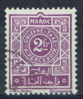 French Morocco, Postage Due, 2f., 1917, VFU - Morocco (1891-1956)