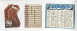 3 Calendriers TABAC GITANES REGIE FRANCAISE CALENDRIER 1932 1936 1956 CALENDAR /FREE SHIPPING R - Calendarios