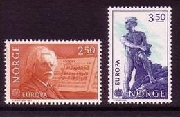 NORWEGEN MI-NR. 885-886 POSTFRISCH EUROPA 1983 GROSSE WERKE GRIEG KOMPONIST ABEL MATHEMATIKER - Norwegen