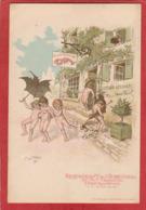 CPA: Carte Publicitaire - Paris (9°) Restaurant De L'Ecrevisse - Avenue Trudaine - Illustrateur Redon - Arrondissement: 09