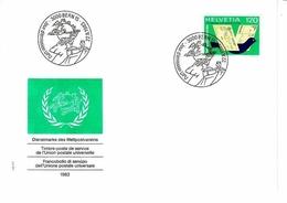 SCHWEIZ UPU MI-NR. 14 FDC BRIEFTAUBE - U.P.U.