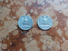 REGNO - 2 Aquilotti Da 5 Lire - 1927 E 1930 Argento + Spese Postali - 1900-1946 : Victor Emmanuel III & Umberto II