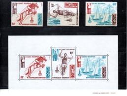 Gabon Nº 45-47 + H.B. 32 Olimpiadas, Serie Completa En Nuevo 6,65 € - Verano 1980: Moscu