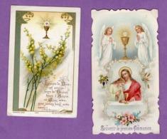 Image Pieuse Premiere Communion Eglise De Donnay Le 22 Mai 1910 Et Le 14 Mai 1911   - Le Lot De 2 - - Religion & Esotérisme