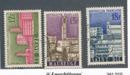 FRANCE - N°YT 1152/54 OBLITERES - 1958 - Oblitérés