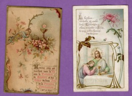 Image Pieuse Premiere Communion Eglise Notre Dame De Caen  Le 10 Juin 1908 Et Le 18 Juin 1905   - Le Lot De 2 - - Religion & Esotérisme