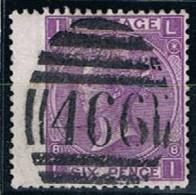 Great Britain, 1867/80, # Y 34, SG 109, Plate 8, Used - 1840-1901 (Regina Victoria)
