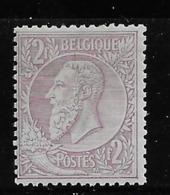 OBP52 Met Spoor Van Scharnier - 1884-1891 Léopold II