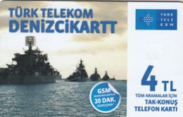 TURKEY - Denizci Kart (Soldier Cards) , Ağustos 2016, C.H.T. - CHT05 , 4 ₤ - Turkish Lira ,01/14, Used - Turquie