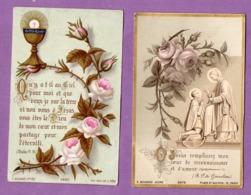 Image Pieuse Premiere Communion Eglise De Monts Normandie  Le 10 Aout 1890   - Le Lot De 2 - - Religión & Esoterismo