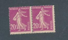 FRANCE - PAIRE N°YT 190 NEUVE* AVEC CHARNIERE AVEC VARIETES A ETUDIER - 1924/26 - Curiosities: 1921-30 Mint/hinged