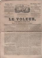 LE VOLEUR 10 07 1844 - STRASBOURG JUIFS / Dr AKIBA JERUSALEM - LE CAP - LA TABLE CHEZ TALLEYRAND & METTERNICH - ST APRE - Kranten