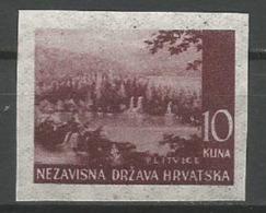 Croatia,NDH,Landscapes 10 Kn 1941.,imperforated-pelir,MNH - Kroatië