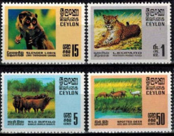 MDA-BK24-152 MINT PF/MNH ¤ CEYLON 1970 4w In Serie ¤ MAMMALS - WILD ANIMALS OF THE WORLD - Game