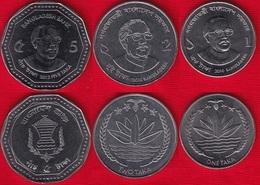 Bangladesh Set Of 3 Coins: 1 - 5 Taka 2010-2012 UNC - Bangladesh