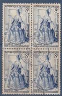 = Célimène, Théâtre Français N°956 Bloc De 4 Oblitéré 8f Bleu-noir Et Outremer - Oblitérés