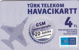 TURKEY - Havacikartt (Soldier Cards) , Aralık 2013, C.H.T. - CHT05 , 4 ₤ - Turkish Lira ,08/11, Used - Turquie