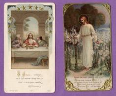 Image Pieuse Premiere Communion Eglise De Villy Bocage   Le 01 Juin 1916  - Le Lot De 2 - - Religión & Esoterismo