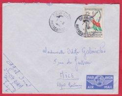 Republique Malgache Cachet ; Obitération Diégo Suarez.Sur Lettre N°339 Seul Pour Nice - Madagascar (1889-1960)