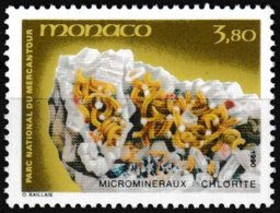 Timbre-poste Gommé Neuf** - Microminéraux Du Parc Du Mercantour Chlorite - N° 1733 (Yvert) - Principauté De Monaco 1990 - Monaco