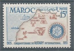 French Morocco, Rotary International, 1955, MNG VF - Morocco (1891-1956)