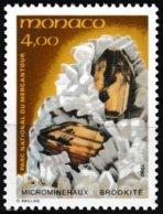 Timbre-poste Gommé Neuf** - Microminéraux Du Parc Du Mercantour Brookite - N° 1734 (Yvert) - Principauté De Monaco 1990 - Monaco