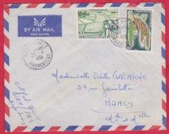 Republique Malgache Cachet ; Obitération 1960 Diégo Suarez.Sur Lettre N° 349 ; 330 Pour Nancy - Madagascar (1889-1960)