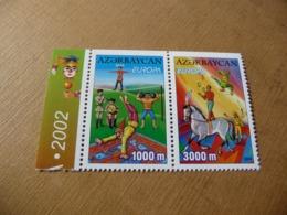 TIMBRES   AZERBAÏDJAN   EUROPA   2002   N  431 / 432   COTE  10,00  EUROS   NEUFS  LUXE** - 2002