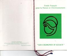 ENCART LES CIGOGNES D'ALSACE 1973 - Gedenkstempels