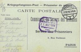 Ardenne Fumay Louis Leonard  Mannheim  Prisonnier - Poststempel (Briefe)