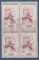 = Wolgang Amadeus Mozart, Célébrité Etrangère, N°1137 Bloc De 4 Oblitéré 25f Violet Et Brun-violet - Oblitérés