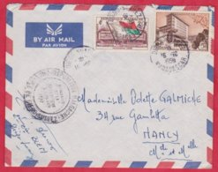 Republique Malgache Cachet ; Obitération 1959 + Cachet Province Diégo Suarez Sur Lettre N° 328 ; 338 Pour Nancy - Madagascar (1889-1960)