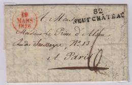 France; 82 (Vosges) NEUFCHATEAU 19 Mars 1828  Taxe 6 Décimes Pour Paris + TàD Bureaux De Distribution - 1801-1848: Precursori XIX