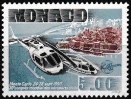 Timbre-poste Gommé Neuf** - Congrès Mondial De L'Association Des Aéroports Civils - N° 1737 (Yvert) - Monaco 1990 - Monaco
