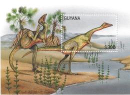 Guyayna 1996 Prehistoric Dinosaurs Prehistorics Dinosaur Animals Fauna Nature Wild Animals S/S Stamp MNH - Stamps