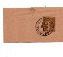 EXPO PHILA VALENCIENNES 1937 SUR ENTIER BANDE JOURNAL - Postmark Collection (Covers)