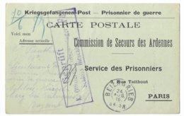 Ardenne Renwez Lieutenant Pauthu Beilngries  Prisonnier - Poststempel (Briefe)