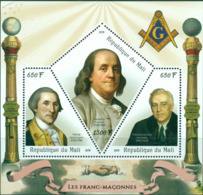 PRESIDENTS REP. Du MALI Massoneria Franc-maçonnerie SHEET MINT MNH ** MASONIC FREEMASONRY - Freimaurerei