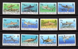 Océan Indien 1994, Faune Marine, Les Requins, 153 / 163**, Cote 40 € - Vita Acquatica