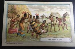 Bruchsal Schulze Chromo Allemande Togo Fête Village Harpe - Altri
