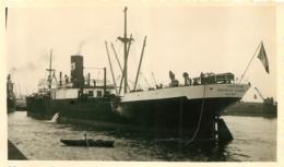 BATEAU CARGO LE CAPITAINE MAURICE EUGENE  ALGER QUI A ETE COULE EN 1940  PHOTO ORIGINALE FORMAT 11 X 6.50 CM - Boats