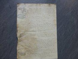 COGNAC Marans 1865 Nav Ire La Prospérité, Transport De Chaux Pour Chemin De Fer Ref 871 ; PAP09 - Historische Documenten
